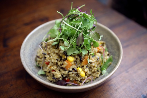 <b>Roast vegies:</b> Steven Manfredi says you can throw just about any leftover veg into his risotto    <a ...