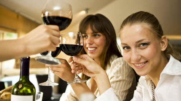 Cheers: The more alcohol a wine contains, the more apparent its legs will be in a glass.