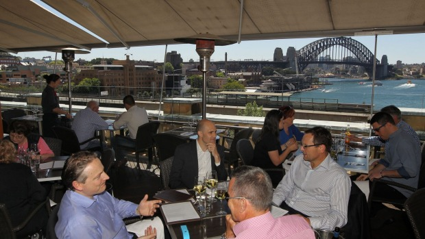Food with a view: Sail into Cafe Sydney for a daily delight.