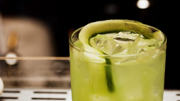 Gin and tonic with cucumber juice at Green Park