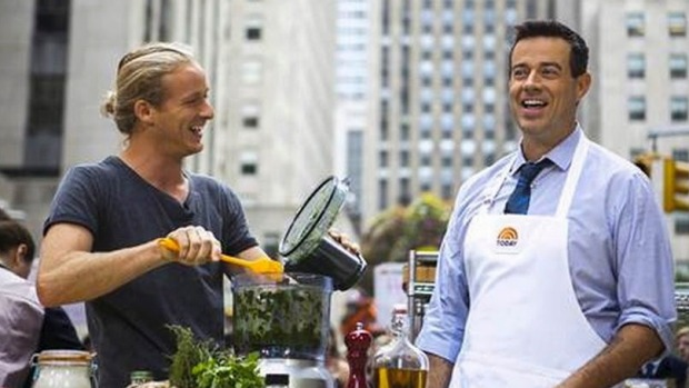 Expanding: Guy Turland (left) with Carson Daly on the Today Show. Turland is  busy with a new Bondi restaurant.