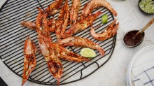 Summer's here: South Korean-style king prawns are delicious on any style of barbecue.