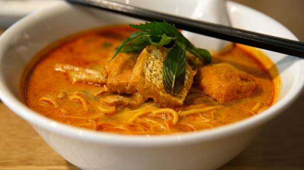 Simple fare: A curry laksa at Hawker.