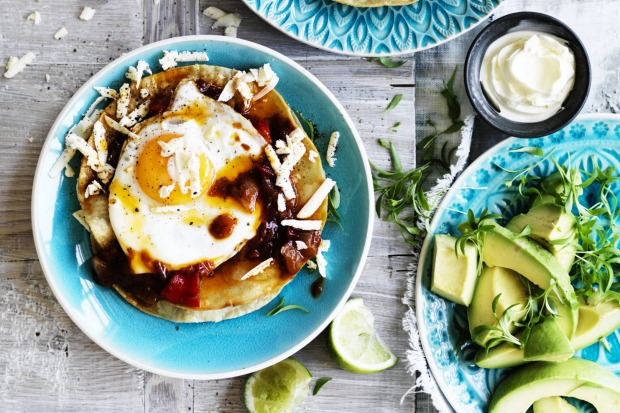 Neil Perry's huevos rancheros served with eggs and tortillas. <a ...