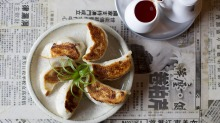 Pork and cabbage dumplings at  Dumplings and Beer in Potts Point on January 27, 2015 in Sydney, Australia.  (Photo by ...