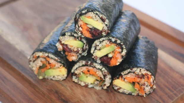 Lola Berry's nori and quinoa rolls.