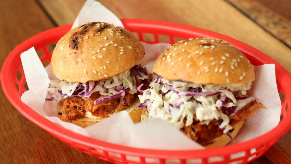 Pulled pork sliders at Little Creatures Brewery in Geelong.