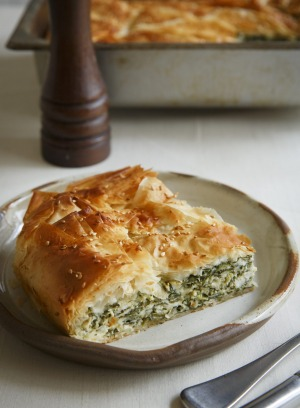 Sommelier Amanda Yallop suggests serving spanakopita with champagne.