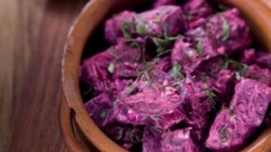 Cumin-roasted beetroot and yoghurt