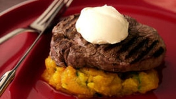 Chargrilled steak with horseradish cream