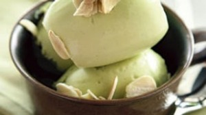 Avocado and almond milk sorbet