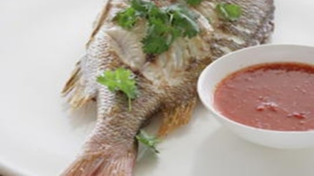 Grilled fish with garlic and chilli sauce recipe good food for Garlic sauce for fish