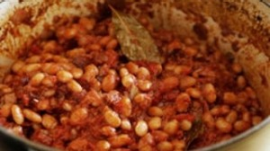Home-made baked beans