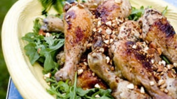 Maple-rose barbecued chicken