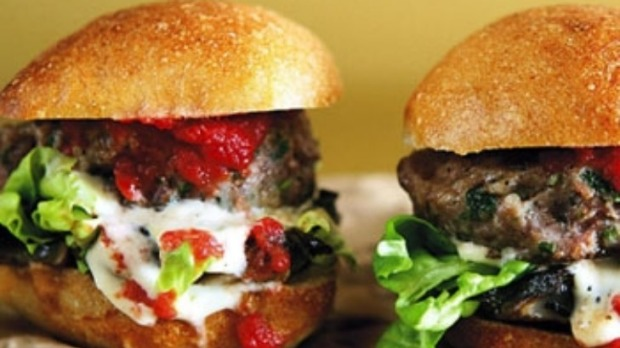 Porcini-Gorgonzola Burgers With Veal Demi-Glace Recipe ...