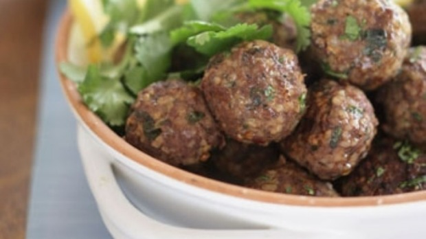 Middle Eastern Meatballs With Coriander Leaves Recipe Good Food