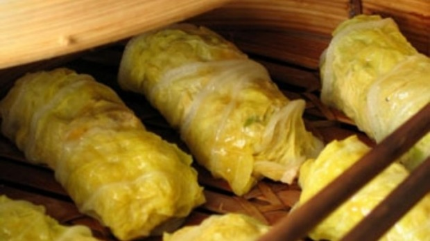 Chinese Steamed Pork And Cabbage Rolls Recipe Good Food