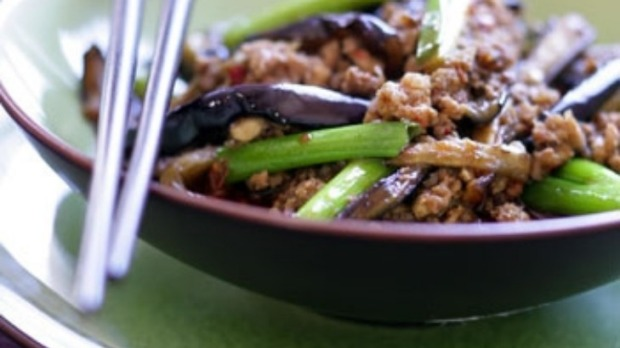 Chinese spicy eggplant