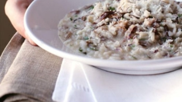 Risotto with pork sausage