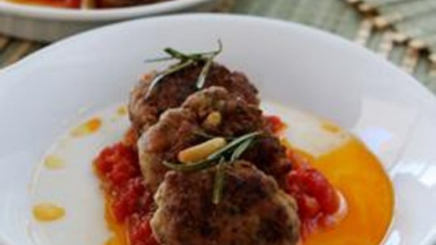 Lamb and ricotta polpettine with summer herb and tomato ...