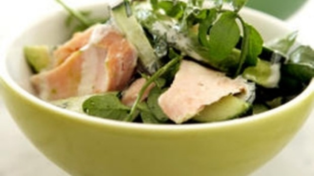 smoked trout salad with avocado dressing recipes dishmaps smoked trout ...