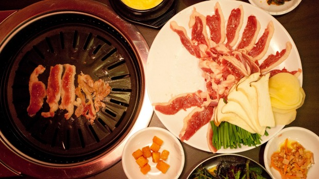 Do duck in: Oree's roast duck with banchan.