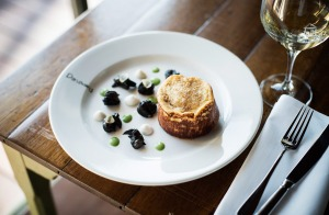 Donovans' souffle with snails.