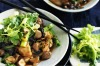 Chilli chicken with chestnuts, black funghi and celery <a ...