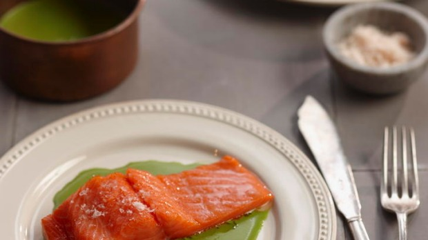 Confit of salmon or ocean trout.
