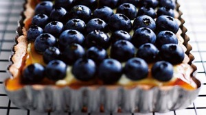 Rowie Dillon's blueberry, maple and marscapone tart.
