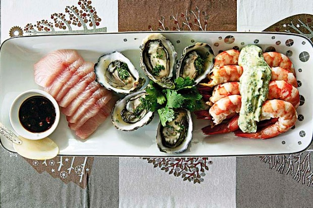 A light, fresh seafood entree is the perfect start to a rich Christmas meal. <a ...