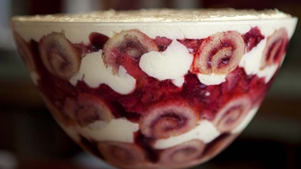 Strawberry trifle.