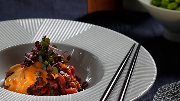 Japanese-style steak tartare