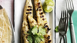 Grilled flathead fillet for tacos