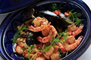 Dish seafood tagine from Lezzet Turkish restaurant in Elwood.