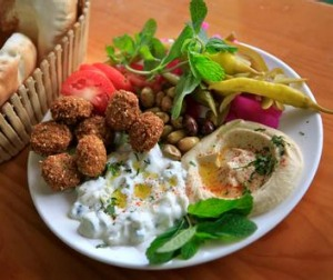 The falafel deal from Abbout Falafel House in Coburg.