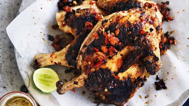 Barbecued spicy chicken.