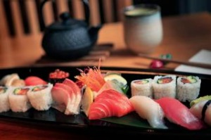 The sushi and sashimi combination from Komeyui Japanese restaurant in Port Melbourne.