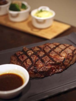 Antoine's signature wagyu steak.