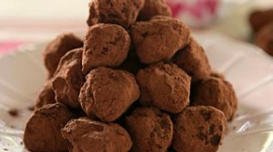 Coffee chocolate truffles.
