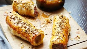 Food. Luke Mangan's pork and fennel sausage rolls with green tomato chutney. SHD SUNDAY LIFE Picture by VANESSA LEVIS  ...