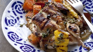 Grilled quails with carrot salad. Frank Camorra recipes for Spectrum, The Sydney Morning Herald. Photographed by Marina ...