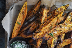 Food. Neil Perry's sweet potato wedges. SMH GOOD WEEKEND Picture by WILLIAM MEPPEM GW120922