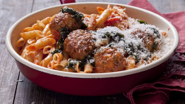Veal & pork polpetti with tomto & oregano sugo. Karen Martini ITALIAN MEATBALL recipes for Epicure and Good Living. ...