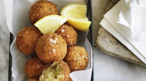 Neil Perry's salt cod fritters.