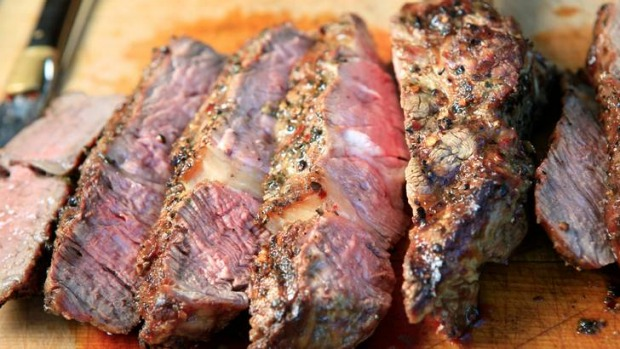 The perfect steak, prepared by Bob Hart.