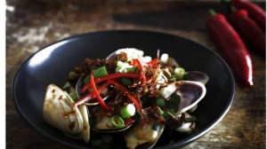 Good Living Pic of the XO Chilli Sauce dish by Jill Dupleix, Sydney Saturday the 29th of September 2012 Feature SMH Pic ...