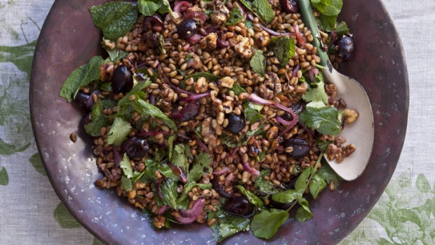Fragrant spices and fresh herbs add zext to this salad.