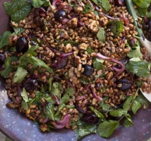 Fragrant spices and fresh herbs add zext to this freekeh salad.
