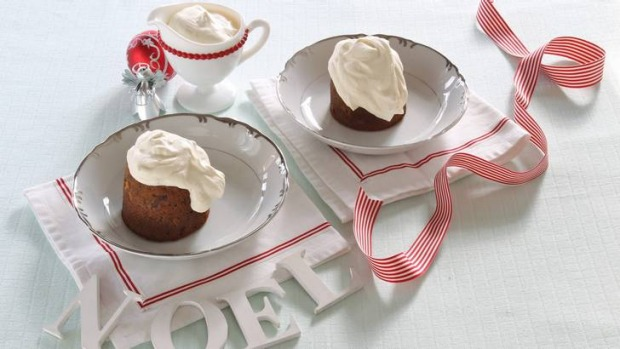 Too good to share: Individual puddings with vanilla cream.